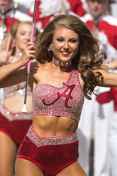 University of Alabama Million Dollar Band Crimsonette Georgia Bulldogs Football, Alabama Football, College Football, Redskins Cheerleaders, Hottest Nfl Cheerleaders, College Cheerleading, Cheerleading Pictures, Dance Senior Pictures, Majorette Uniforms