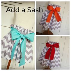 Add a Sash  You pick the color or fabric by itssewcuteboutique, $5.00