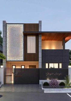 39 Pretty Small Exterior House Design Architecture Ideas – My World House Front Design, Small House Design, Modern House Design, Modern Exterior, Exterior Design, Minimalist House Design, House Elevation, Front Elevation, Facade House