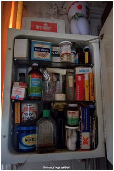 This House Was Abandoned Over 30 Years Ago. This is the medicine cabinet.