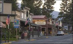 Sisters, Oregon -  Sopped in this small town on my way to Paulina Lake, it is a great little town with an amazing coffee shop! Mountain views.
