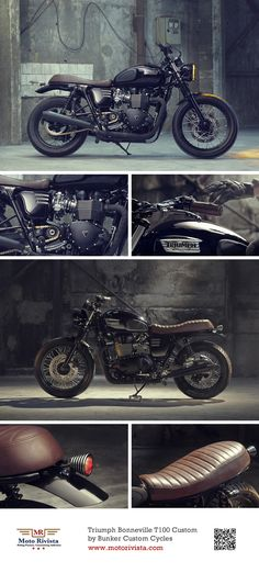 Triumph Bonneville, love the black and brown color scheme