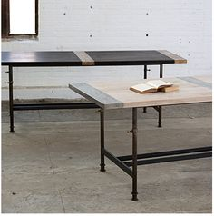 Adjustable Breadboard Table with Metalized Planks