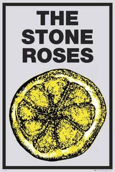 The Stone Roses Album Poster Lemon Ian Brown John Squire Mani Reni Wall Large Rock Posters, Band Posters, Concert Posters, Retro Posters, Jazz Poster, Poster Wall, Poster Prints, The Stone Roses Album, The Wombats
