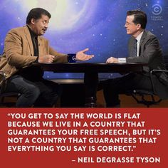 Neil DeGrasse Tyson on The Colbert Report - I love this man.  Wish I was able to have his children.