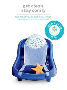 A BabyCenter Top Pick, The First Years Sure Comfort tub makes bath time fun.
