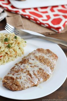 Pecan crusted chicken breasts cooked in a skillet, then topped with an apple cream sauce. Unique, unbelievably delicious & so easy!