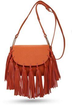 Pink Poodle Boutique Tassel Saddle Bag