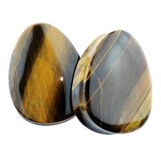 "1-3/8"" Tiger Eye Teardrop Plugs by Evolve Body Jewelry #1-3/8"" #Double-Flare #Evolve"
