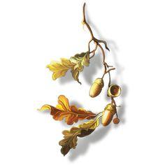 ldavi-fallingleavesautumntea-paintedacorns2.png ❤ liked on Polyvore featuring autumn and fall