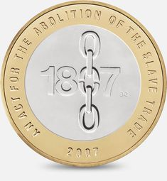 Two commemorative coins were issued by The Royal Mint in one celebrating the anniversary of the Act of Union between Scotland and England, and the other commemorating the anniversary of the abolition of the slave trade. Rare Coins Worth Money, Valuable Coins, Mint Coins, Silver Coins, English Coins, Coin Design, Gold Money, Coin Worth, Gold Bullion
