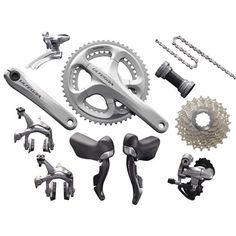Shimano Ultegra 6700 Groupset - Silver | Groupsets - Road Bike | Merlin Cycles