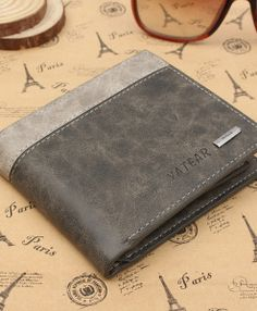 10cf521e20b7 Leather Bifold Wallet ID Business Credit Card Holder Business Credit Cards
