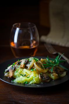 Blog post at Healthy Seasonal Recipes : As promised I have a paleo and vegan entrée today. This recipe is made with spaghetti squash and topped with savory mushroom sauce with car[..]