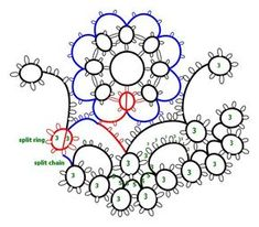 Imported Designs in Tatting Book 77 pattern 8150 pg. 10 diagram