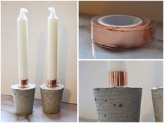 why didn't I think of it? DIY: COPPER TAPE CANDLES