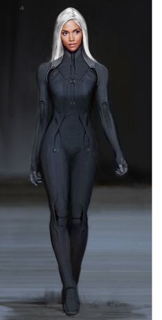 Concept art of Storm from X-Men: Days of Future Past (2014).#Outfit#Accessories