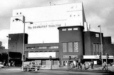 Coventry Theatre in the 1970's. Poster Place used to be the booking office