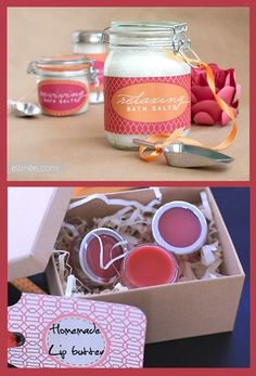 DIY Bath  Beauty Gift Ideas – Handmade DIY Gifts for Her Definitely need to make these for Birthday + Christmas for sure! 5.10.13