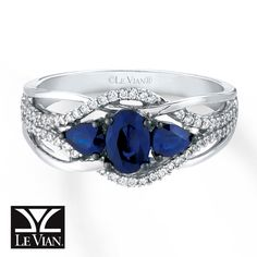 Jared - Blueberry Sapphires™ Ring 1/6 ct tw Diamonds 14K Vanilla Gold™
