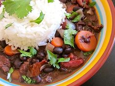 This hearty stew has black beans, flavorful chorizo, and smokey chipotle chiles.