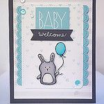 Welcome Baby featuring Simon Says Stamp by ucaree's crafts