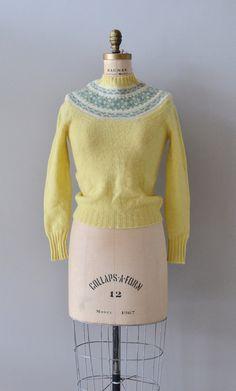 Spring Ahead sweater / vintage fair isle sweater / by DearGolden