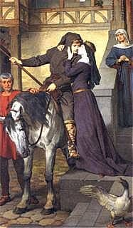 Parsifal qyitte sa mère de Ferdinand Piloty