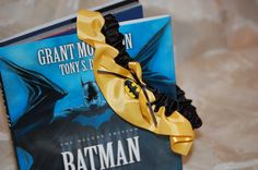 Custom Batman Comic Themed  Wedding Garter (Perfect for Conventions or Geek Weddings). $21.50, via Etsy.