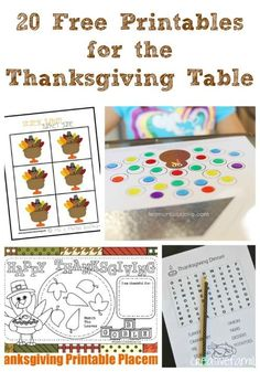 Fun puzzles, colorings pages, placemats and Thanksgiving paper fun that will keep kids reading & writing over school break!