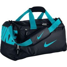 Nike Team Training Small Duffel Bag (77 BAM) ❤ liked on Polyvore featuring bags, luggage and sport