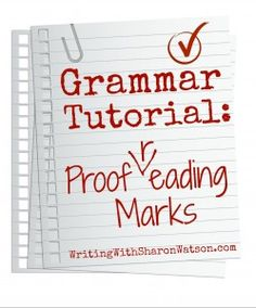 This tutorial shows your students the universal proofreading marks and how to use them. Plus, you'll get examples and an exercise to reinforce the information.