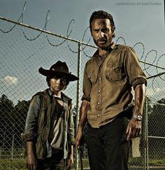 Rick and Carl Grimes
