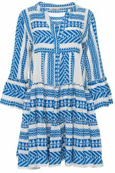 Devotion Damen Minikleid Ella Blau | SAILERstyle Bell Sleeves, Bell Sleeve Top, Mini, Cover Up, Tops, Dresses, Fashion, Ladies Day Dresses, Tunic