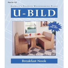 U-bild Breakfast Nook Woodworking Plan 925