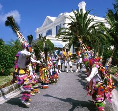The holidays in Bermuda are big for the Gombeys, the traditional troupes of colorful attired dancers that have been a tradition here since the 1800s.