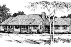 Ranch Style House Plan - 3 Beds 2.00 Baths 1811 Sq/Ft Plan #10-138 Exterior - Front Elevation - Houseplans.com