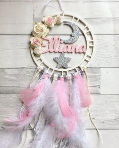 Custom made floral dream catcher//baby shower gift// nursery