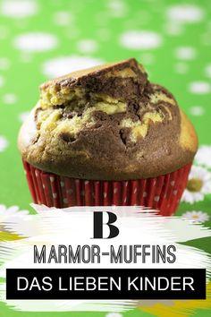 Marmor-Muffins sind ein Hit bei jedem Kindergeburtstag. Aber auch den Erwachsenen schmeckt Marmorkuchen sehr gut. Das beste Rezept gibt es hier. Toffee, Brownie Cupcakes, Scones, Brownies, Cookies, Breakfast, Desserts, Sweet Stuff, Food