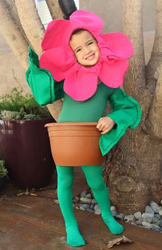 A 'Flower' Girl for Halloween | Felt Flower, Flower Pot, Ballerina | PepperDesignBlog.com
