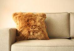 Authentic alpaca pillow. fur pillow covers. Peruvian alpaca