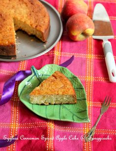 CONCOCTIONS OF A COOKAHOLIC !!!: Eggless Apple Cinnamon Spiced Cake