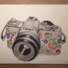 #Vintage #camera #drawing #promarker