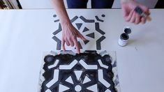 A simple video showing you how to line up Ronda Floor Stencil to create a seamless repeat. Filmed and Edited by Harry Davies Floor Stencil, Stenciled Floor, Painted Floors, Repeat, Stencils, Flooring, Make It Yourself, Patterns, Create