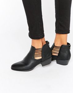 Image 1 of London Rebel Cut Out Ankle Boots