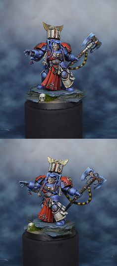 40k - Blood Angels Librarian by ithandir