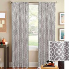 Better Homes and Gardens Circles and Diamonds Curtain Panel