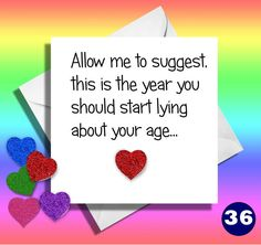 Funny Old Age CardFunny Birthday Cardfriendmatewifehusbandgreetings CardbrothersisterAllow Me To Suggest This Is The Yearlying