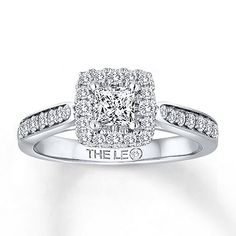 A Princess Cut Leo Diamond Is The Scintillating Center Of