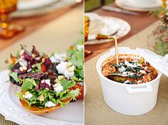 Roasted Pumpkin Wedge Salad & Ribolita, Tuscan Bean and Kale Stew ... Flying Caballos Wedding | Winter Wedding Inspiration - Mirelle Carmichael Photography